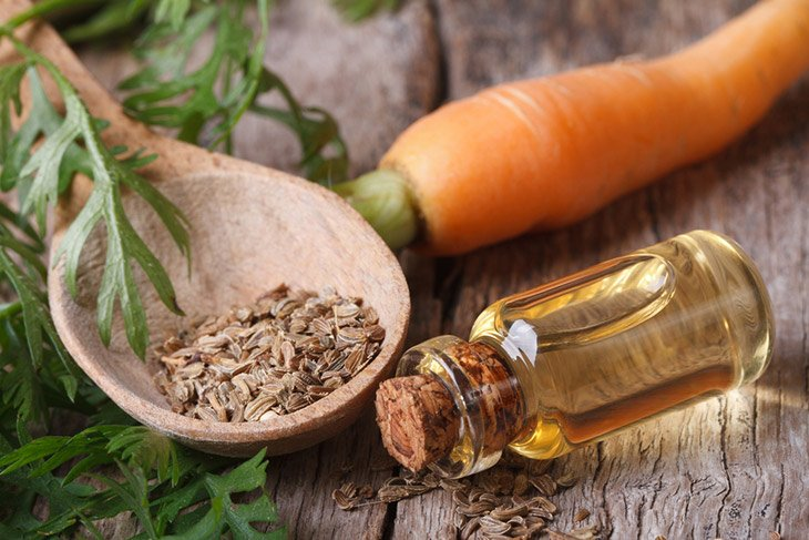 carrot seed oil for tanned