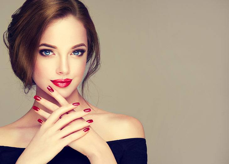 what color nail polish with black dress