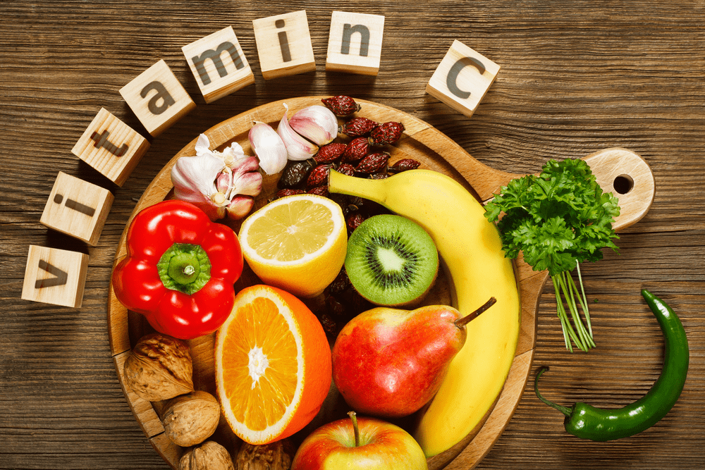 Vitamin C in fruits and vegetables